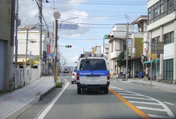 小野市内を走るトラック